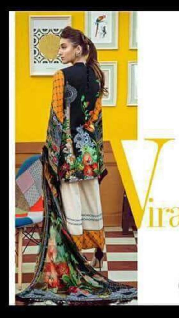 Qalamkar embroidered linen suits RRP £140