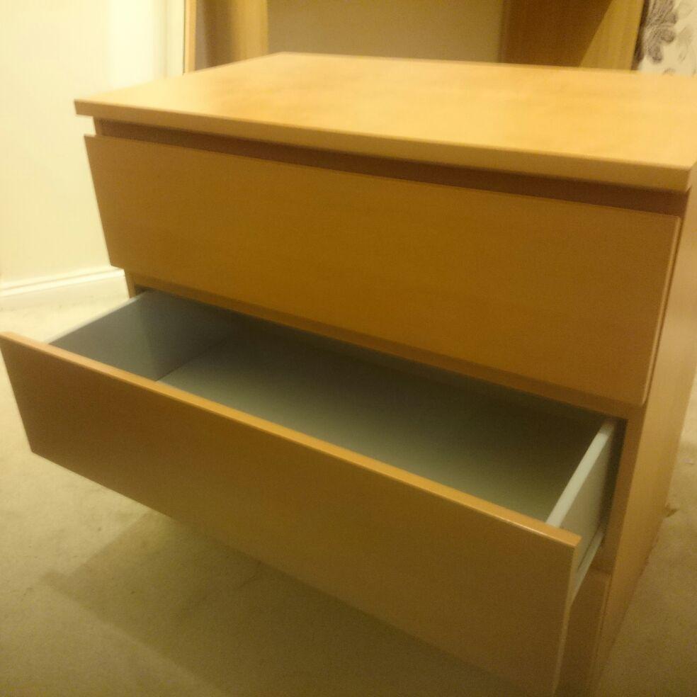 Set of three drawers