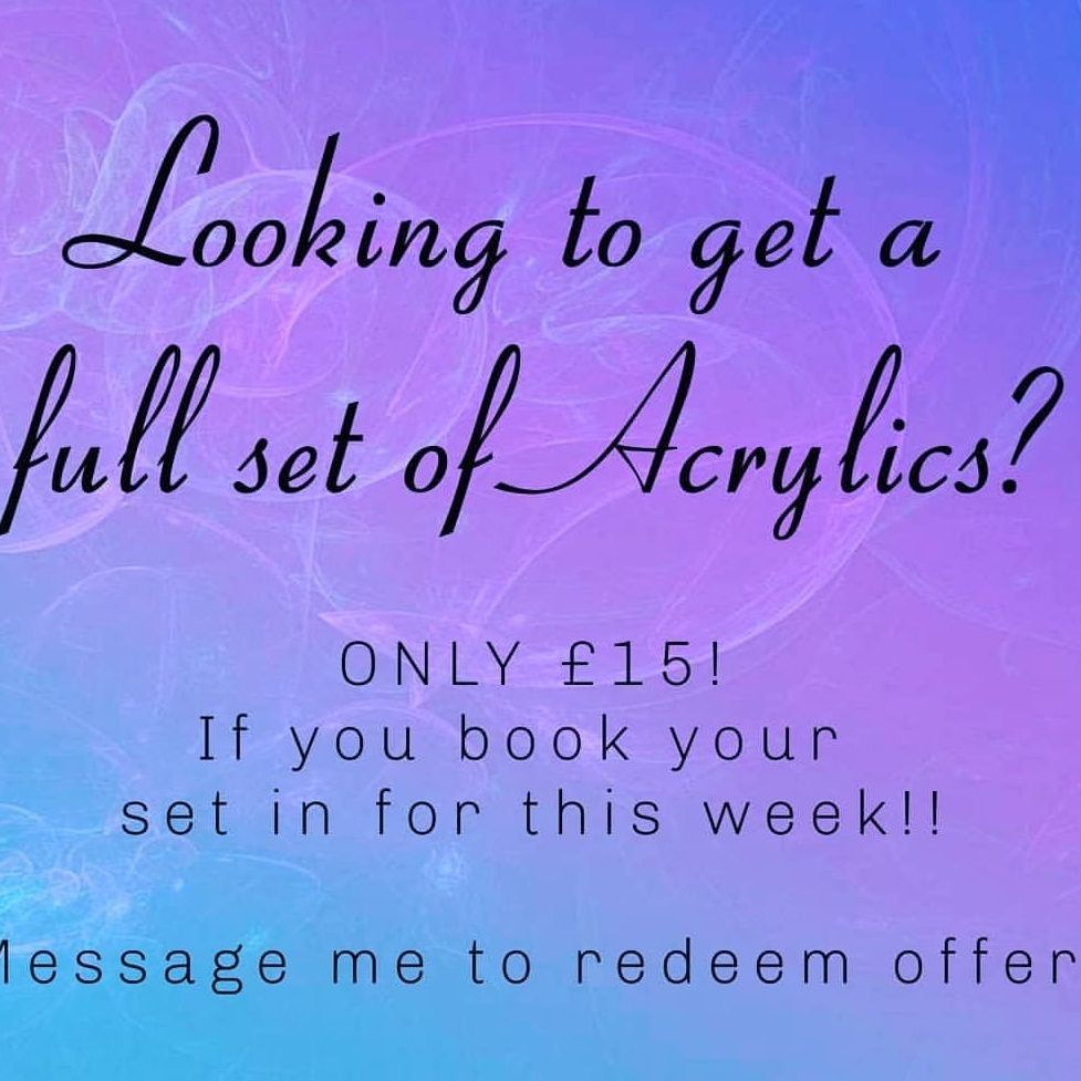 ACRYLIC Nails Opening Offer!