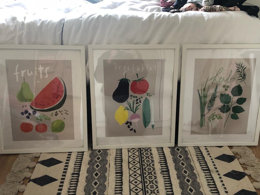 IKEA set of 3 framed posters
