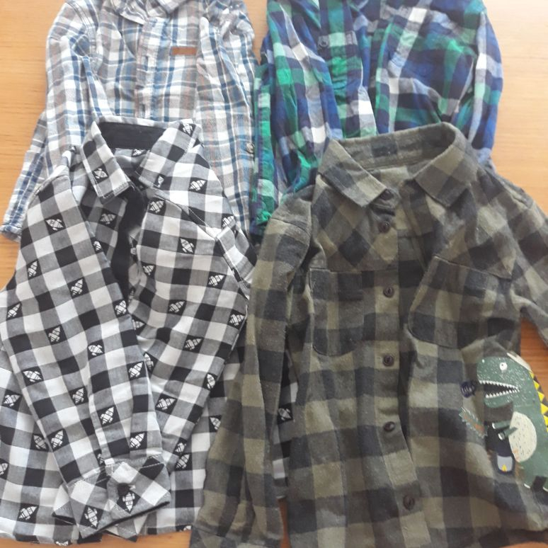 Boys 4x  long sleeve casual shirts