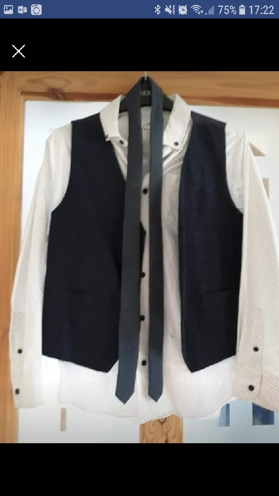 Boys Smart Shirt, Waistcoat and Tie Age 11/12