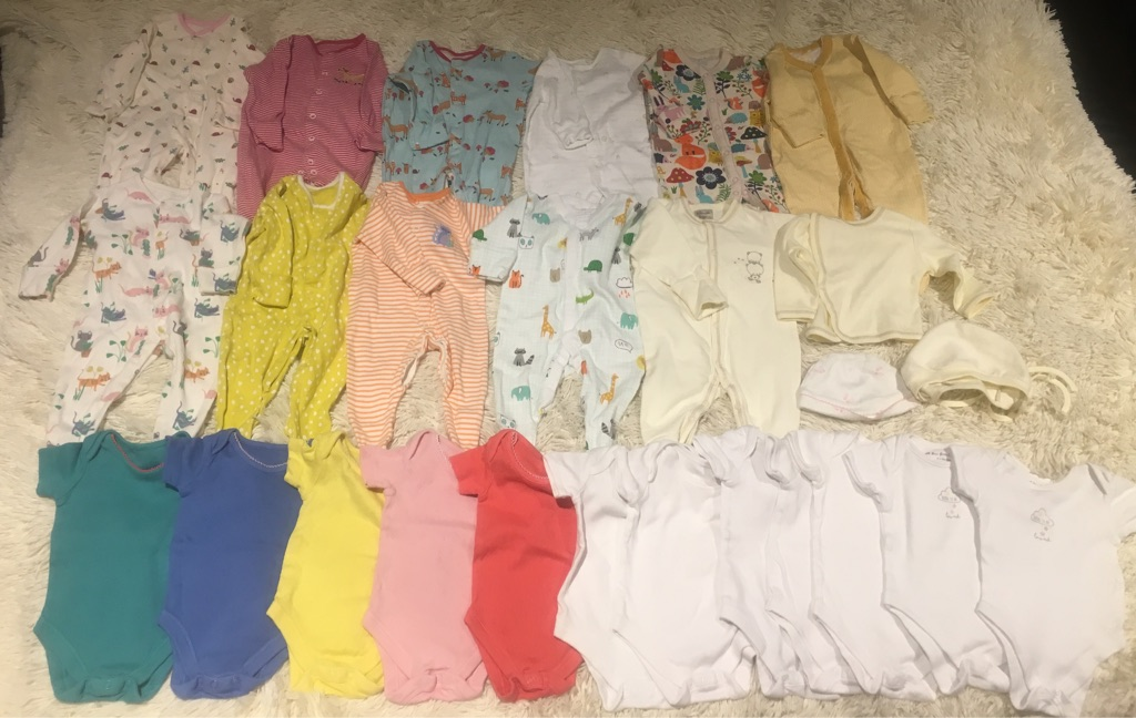 25 JohnLewis&Next baby clothes items 0-3mos
