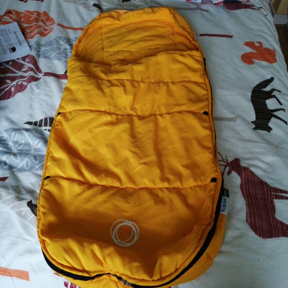 Bugaboo Bee yellow foot muff for bigger baby or toddler