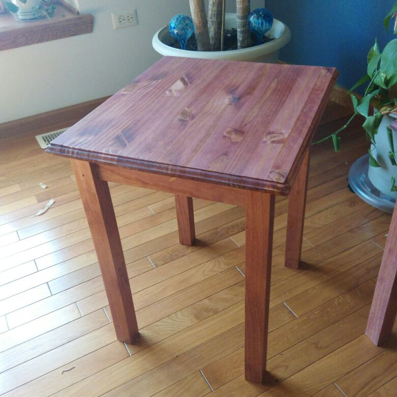 Hand Crafted plant stand/table