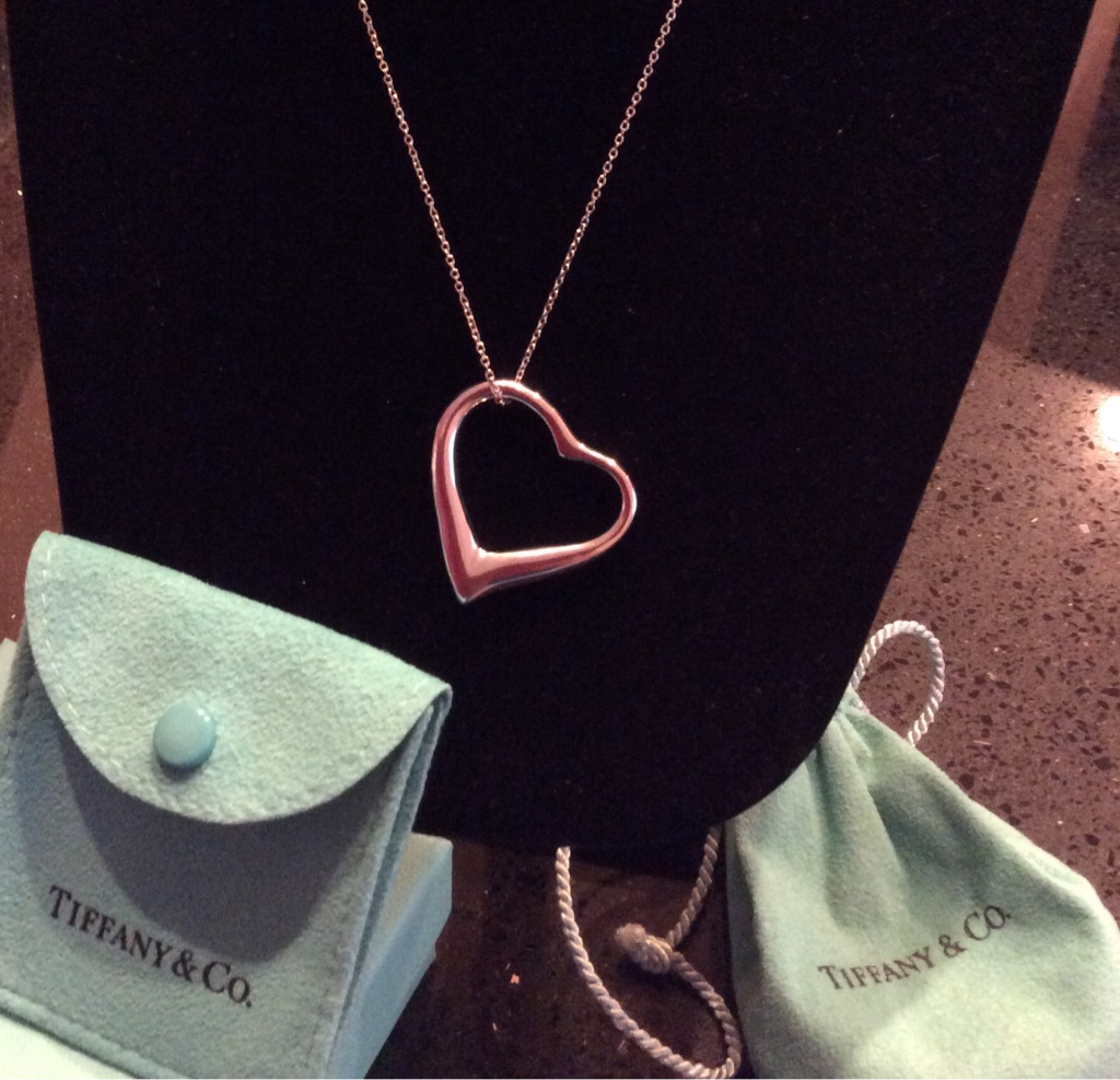 Tiffany & Co Open Heart Pendant & necklace RETIRED