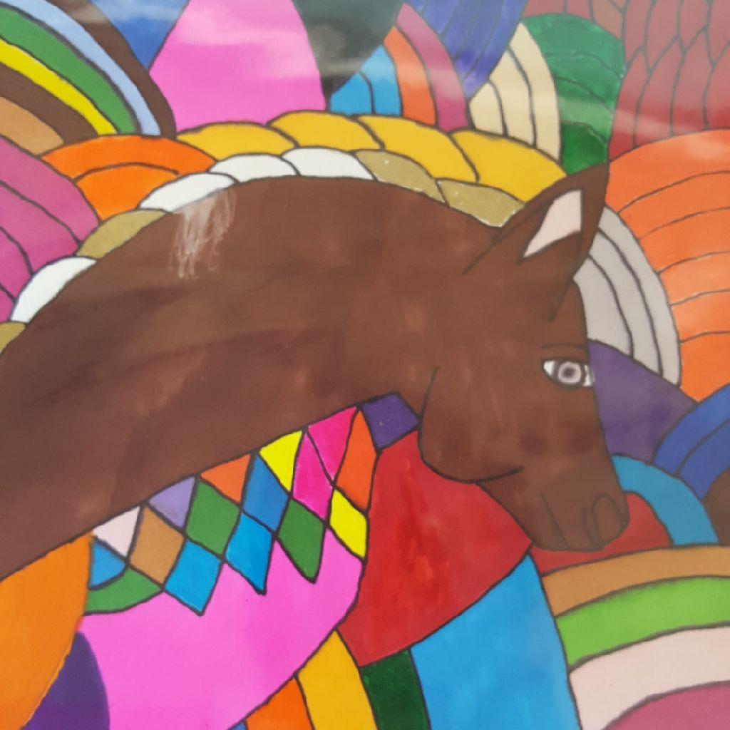 Horse Among Colors