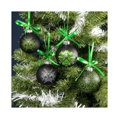 XBOX  GLASS CHRISTMAS TREE BAUBLES