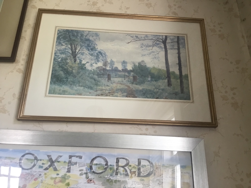 Landscape signed RW Frazer 1881 watercolour stoke by Clare  16in 24in