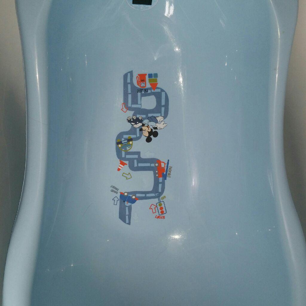 Blue boys baby bath