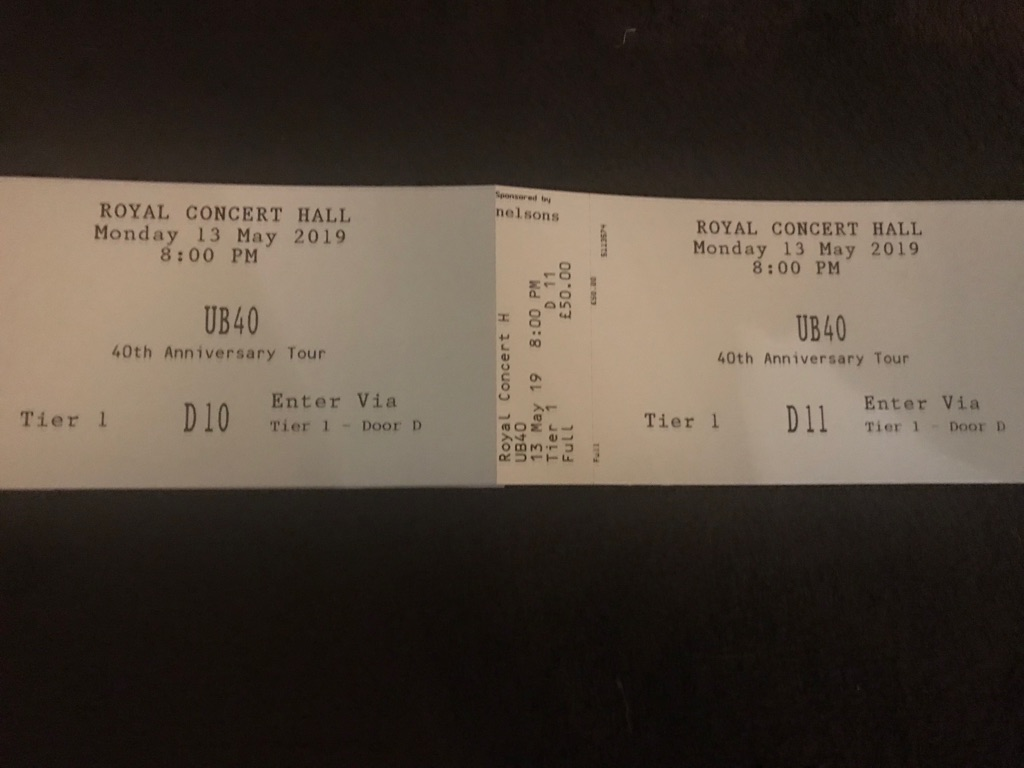 UB40 Concert Tickets
