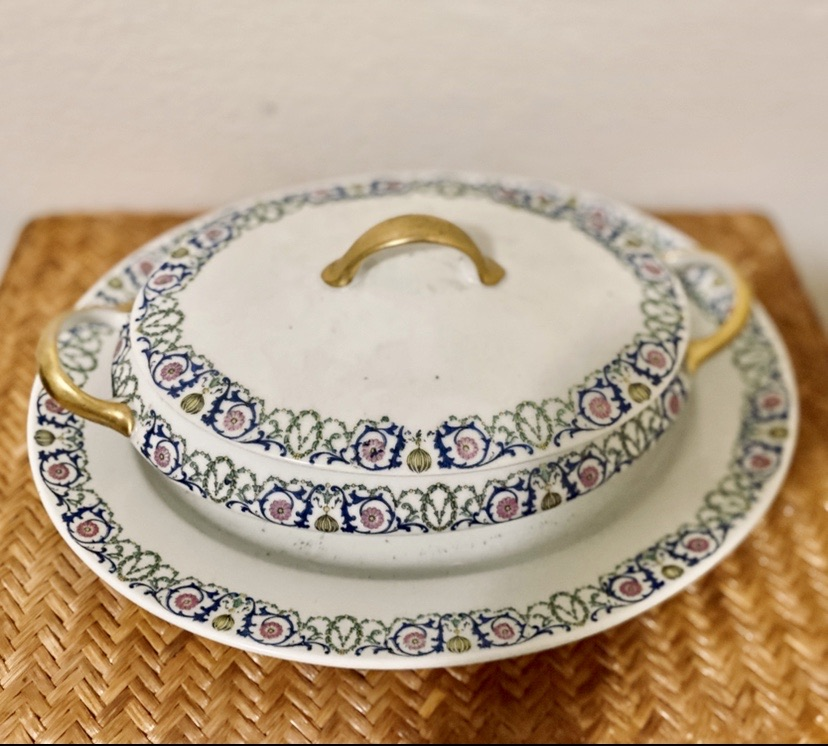 Antique Limoges France-Porcelain Dinnerware