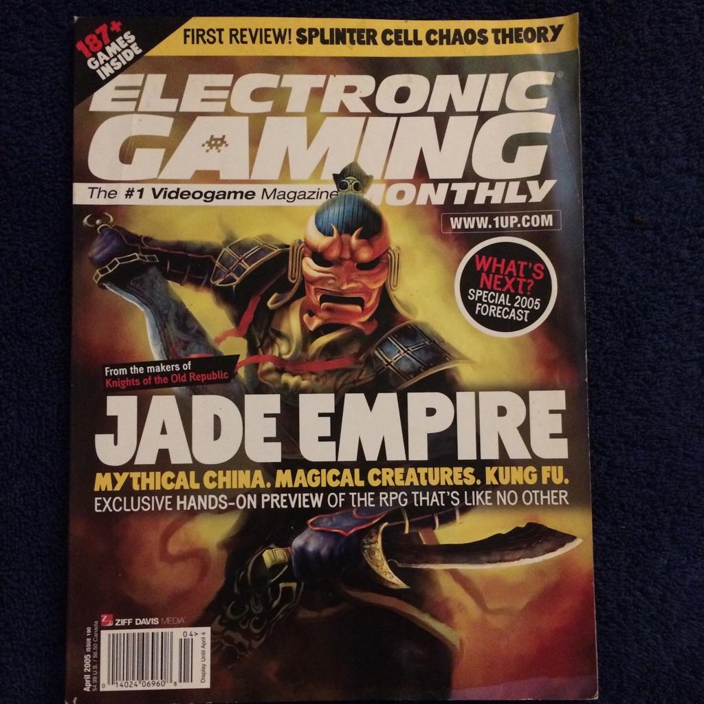 Electronic Gaming Magazine Jade Empire 🎮🗞👺⛩