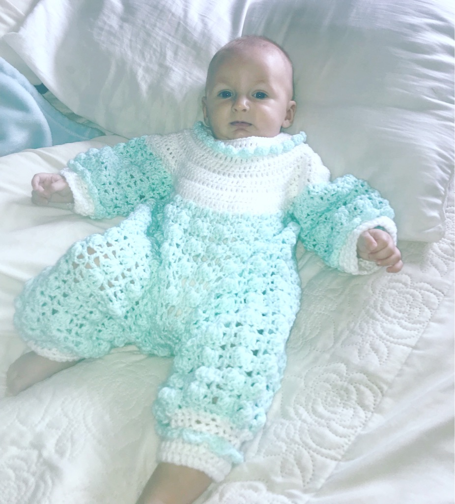 Beautiful baby knitted set