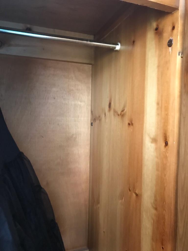 Solid 3 door pine wardrobe in immaculate condition