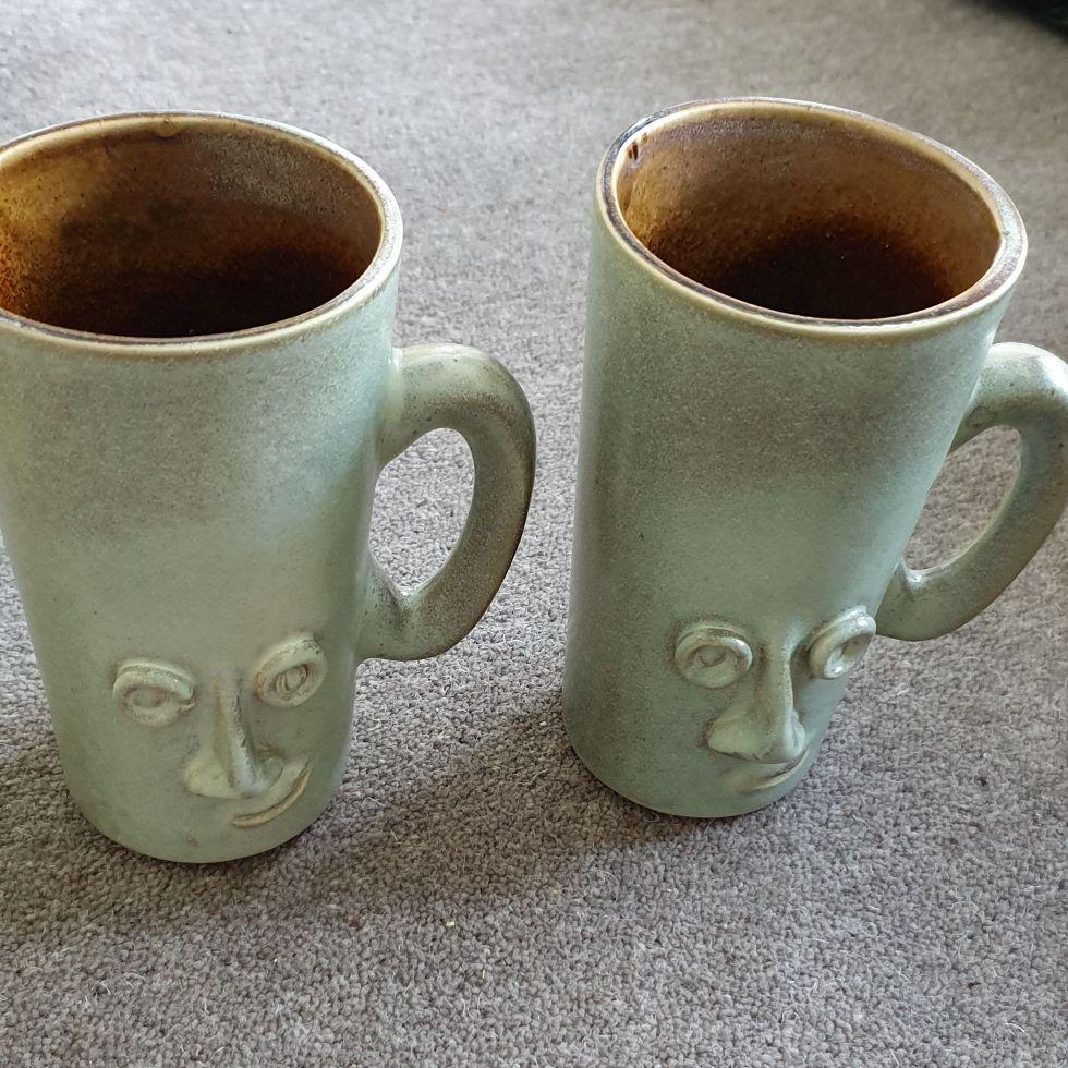 Vintage stoneware mugs