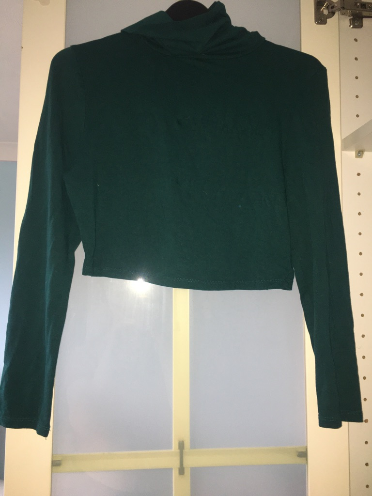 Misguided green long sleeve turtleneck top