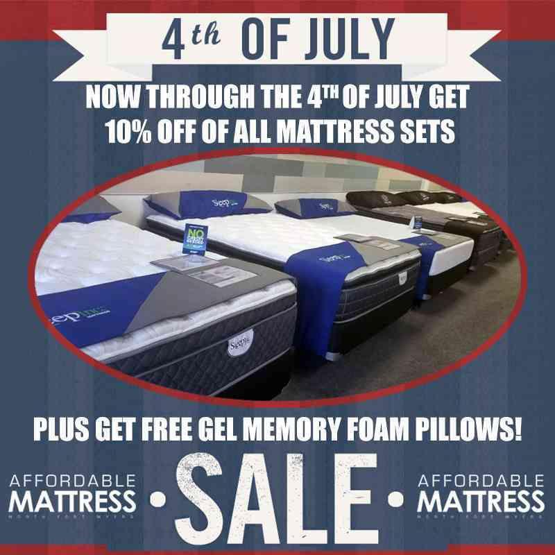BIG 4th of July sale: 10% off sets plus free Gel-Memory Foam Pillows