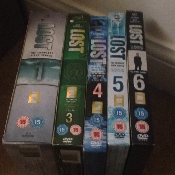 Lost DVD series 1,3,4,5,6