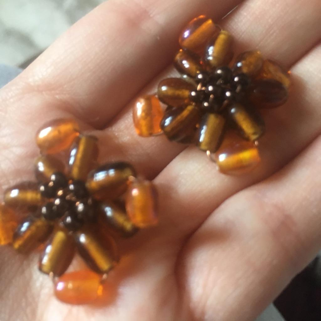 Woman's beautiful earrings