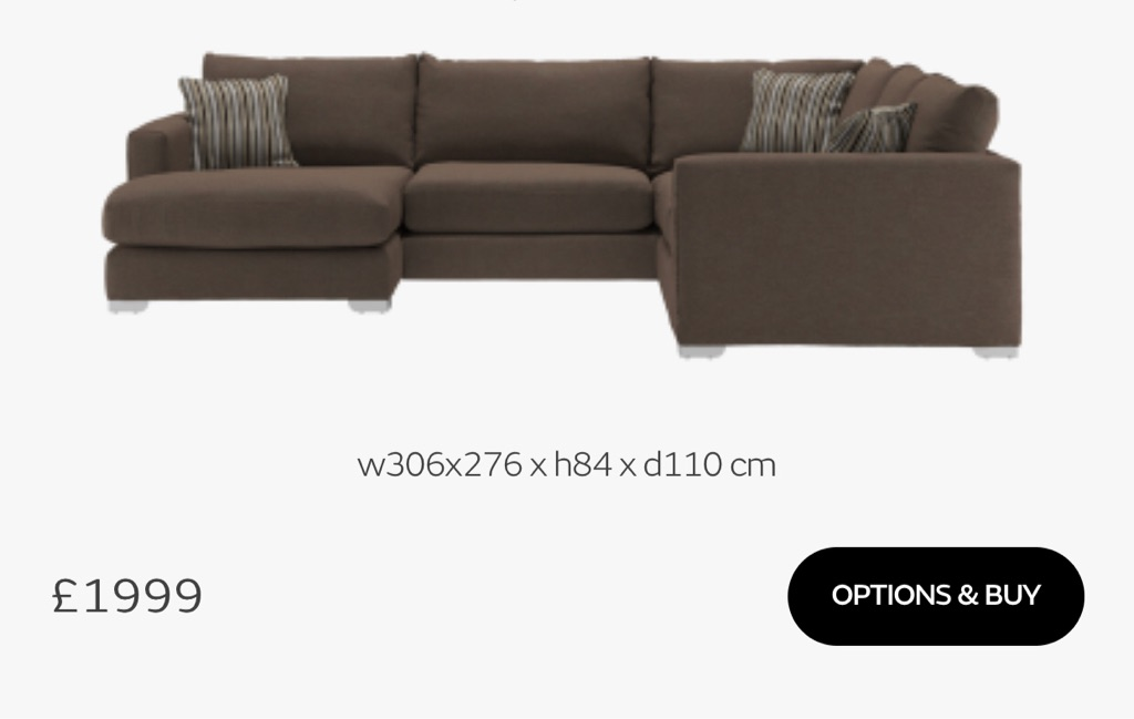 Sofology corner u shape sofa
