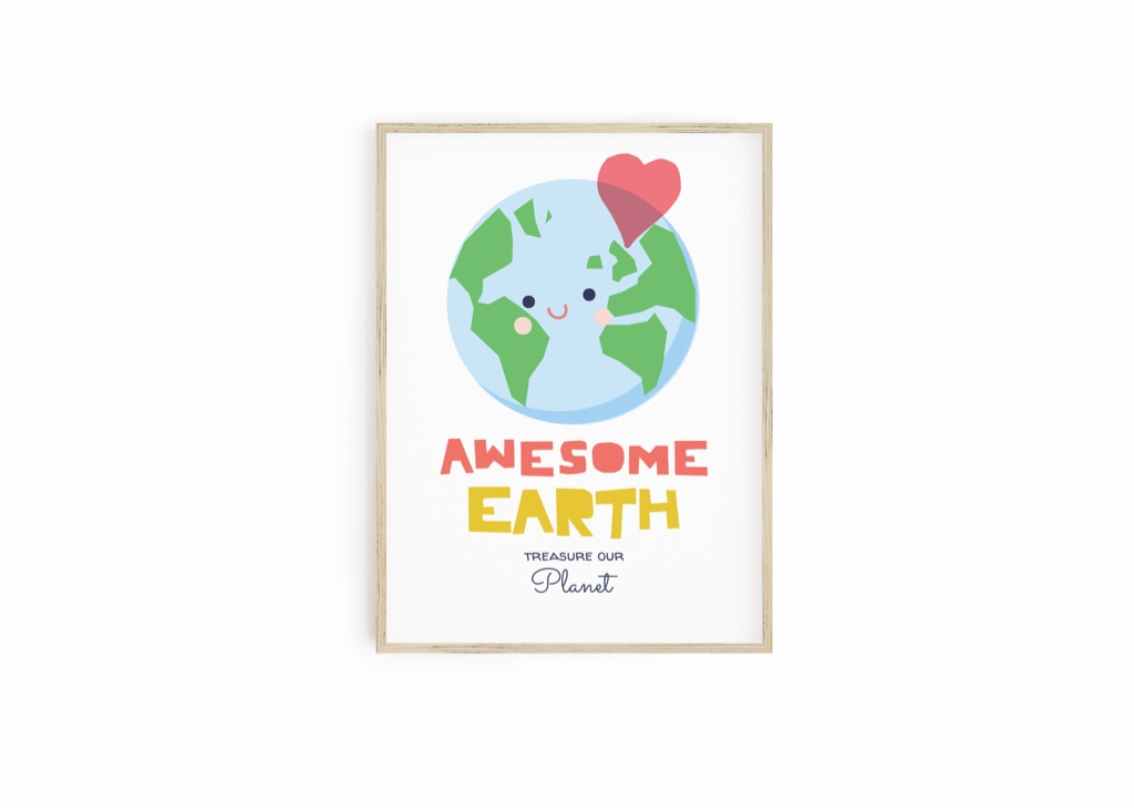 Awesome Earth - Print for Kids. Gifts for Kids