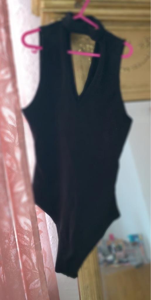 Black tight body suit