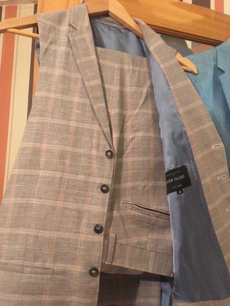 Gents suit River Island trousers & waistcoat