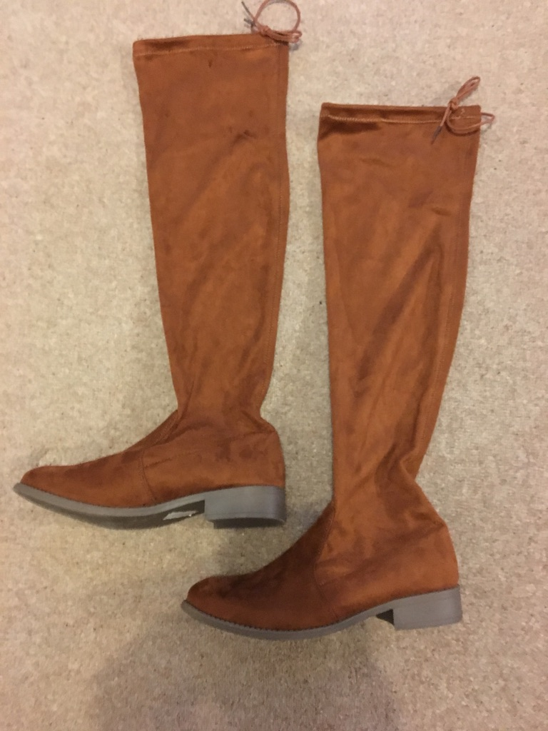 Tan over the knee boots Brand new. Size 7