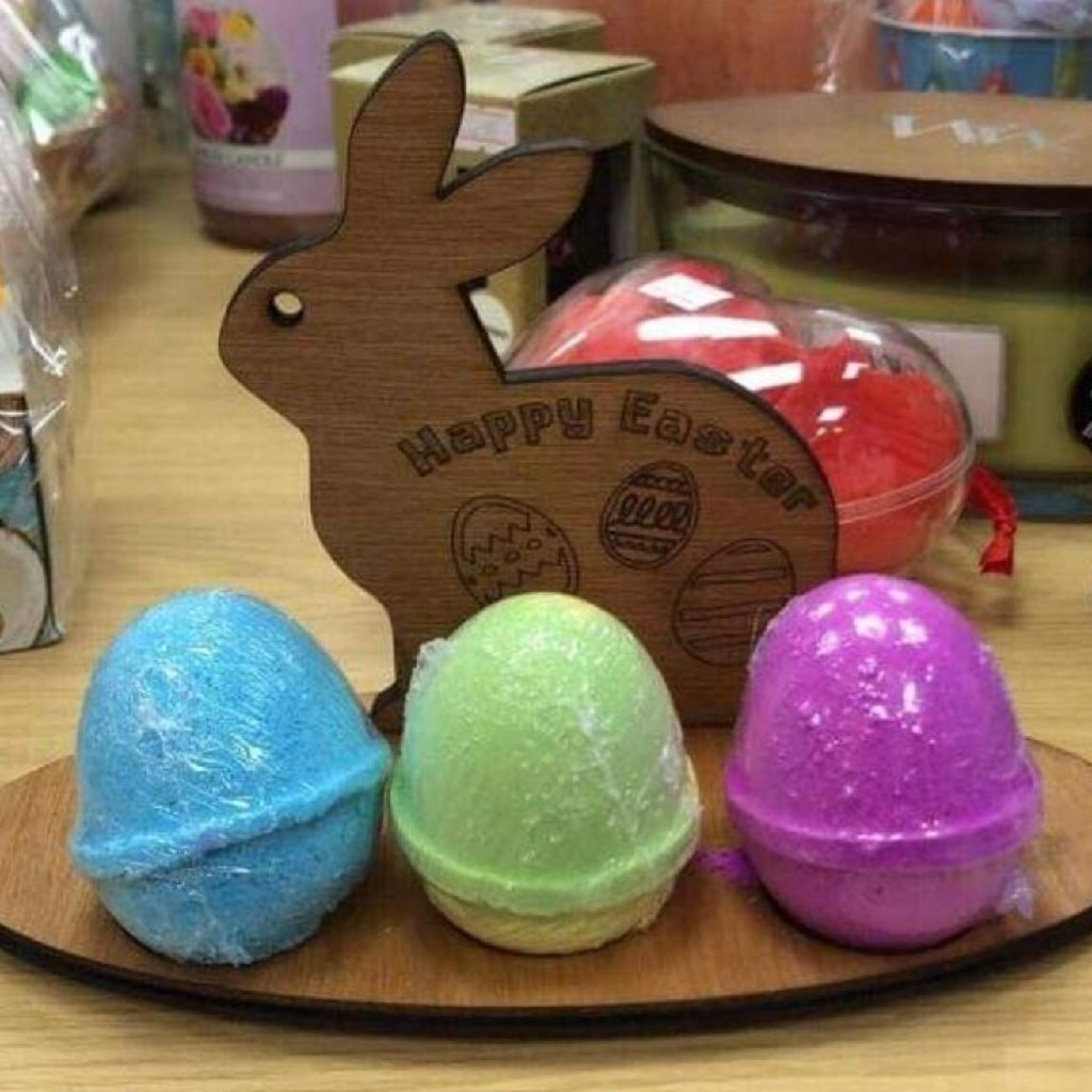 Wooden Easter Bunny Holder