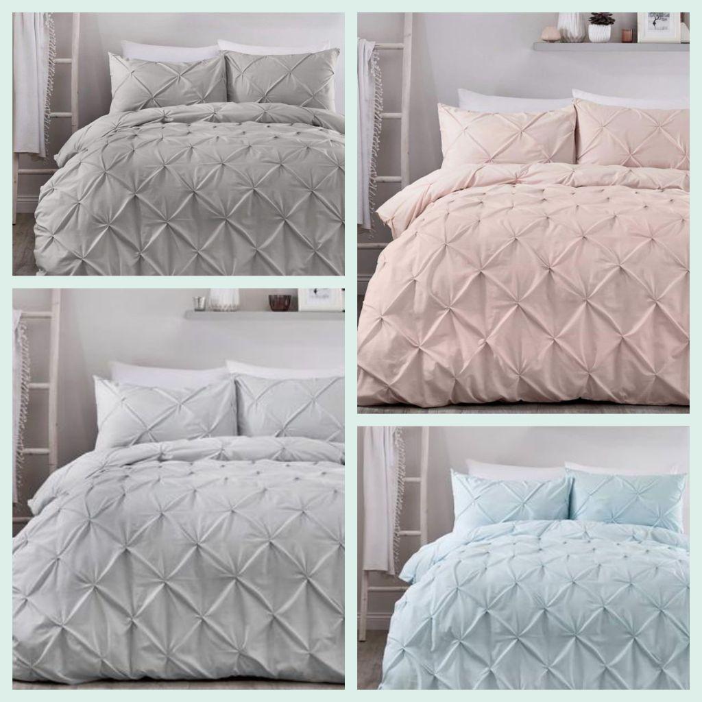 Beautiful pintuck style bedding sets