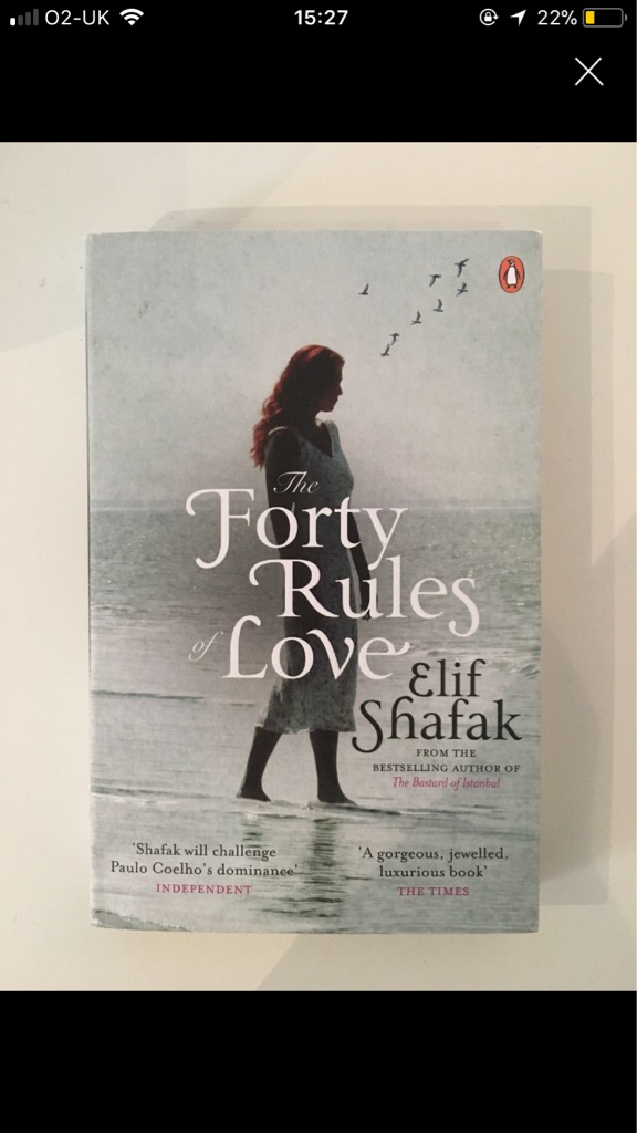 The forty rules of love by Elif shafak book
