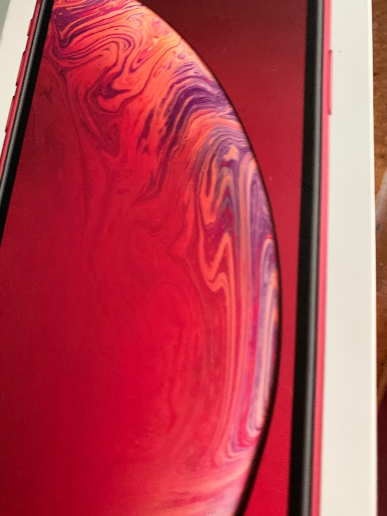 iPhone red xr in box