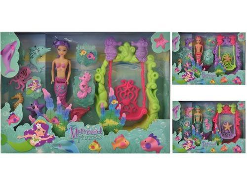 Mermaid princess mermaid doll & swing play set