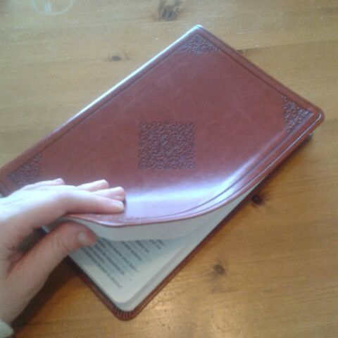 Beautiful Bible in brown imitation leather
