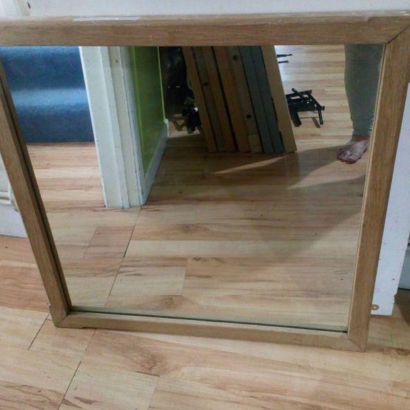 Soild wooden mirror to go ASAP