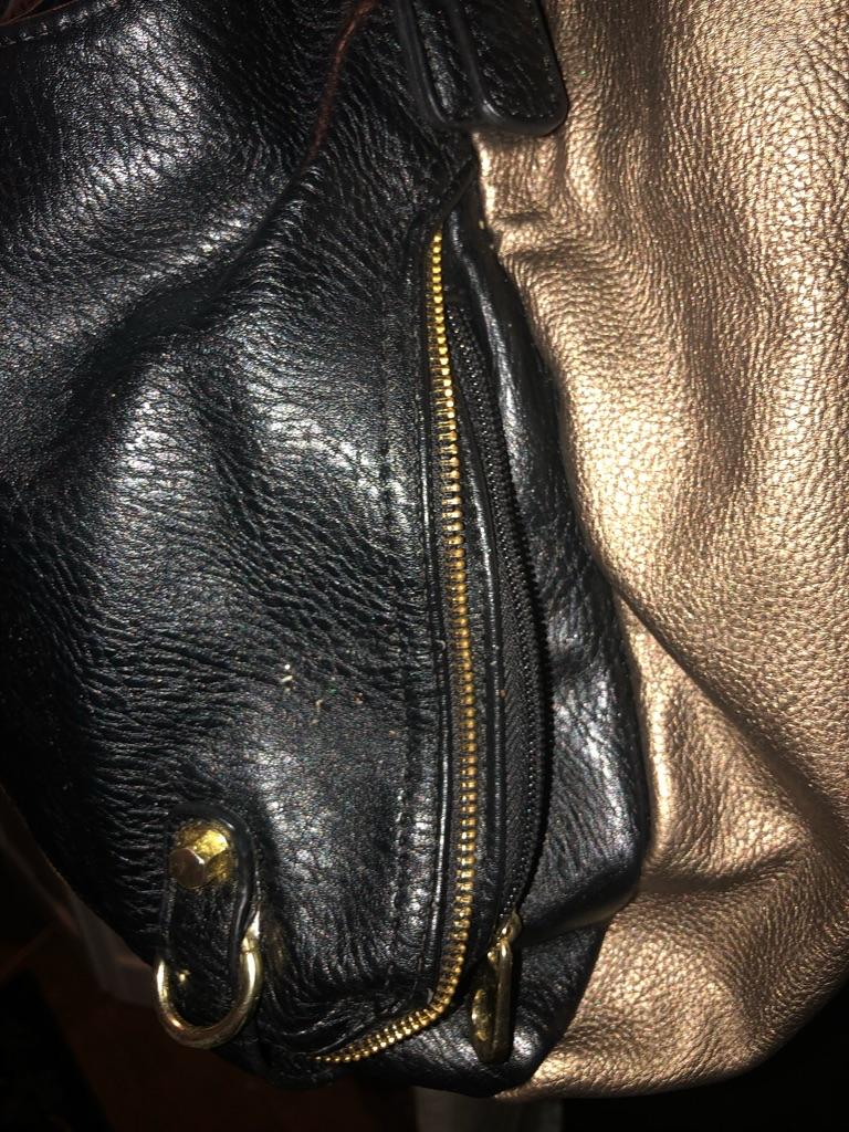 Black & Bronze Big Buddha Bag