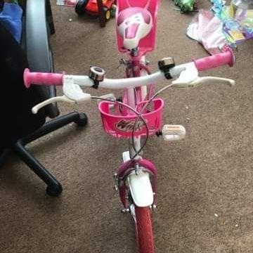 Pink child's bike