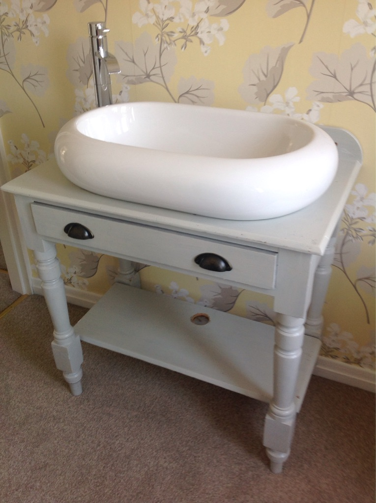 Washstand, basin and tap