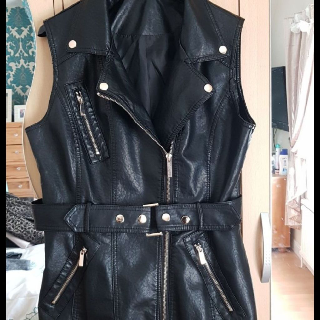 Faux leather ladies Gillet size 12