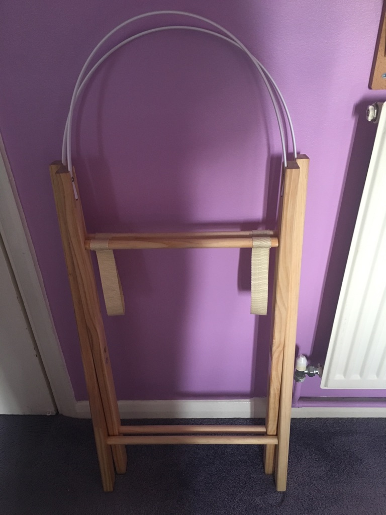WOODEN MOSES BASKET STAND NEW