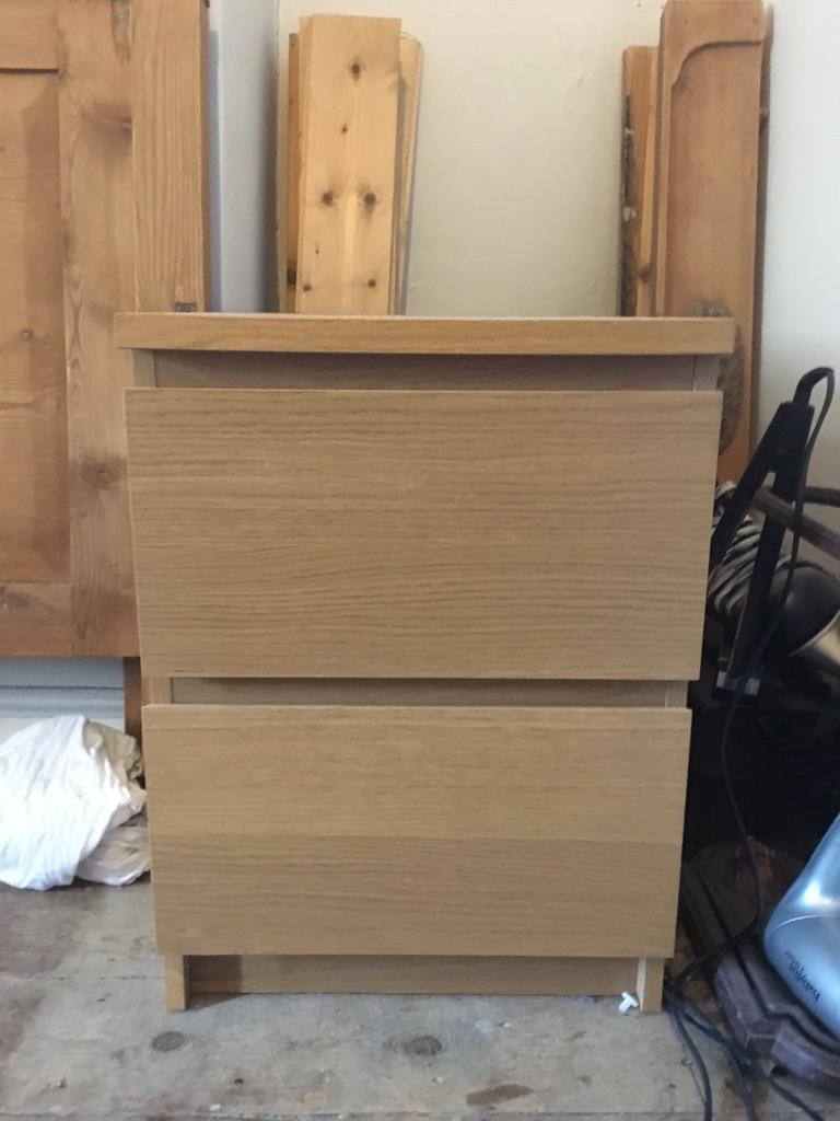 Ikea malm bedside table