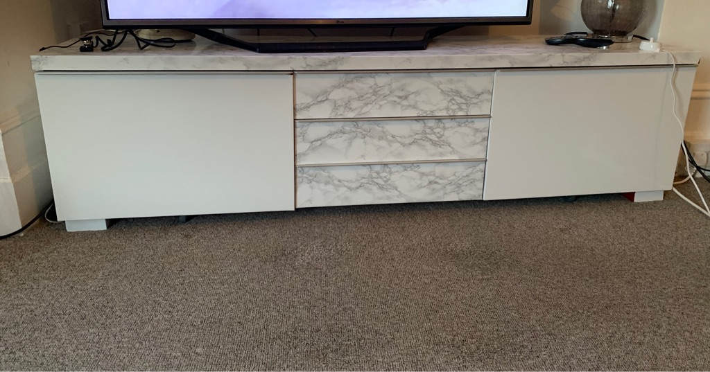 Tv unit - free, but needs collecting. Very heavy so needs 2 people to lift.