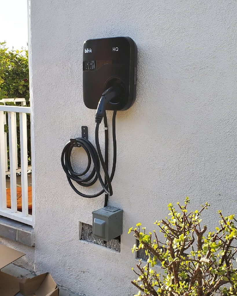 Electrician. Car Charger. EV Charger