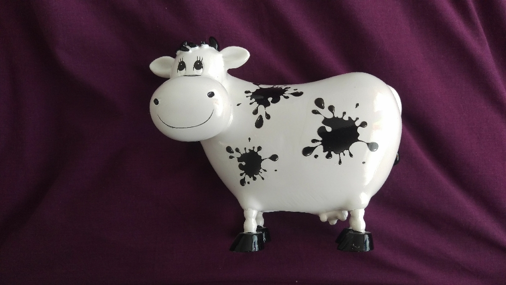 Cow-shaped money box