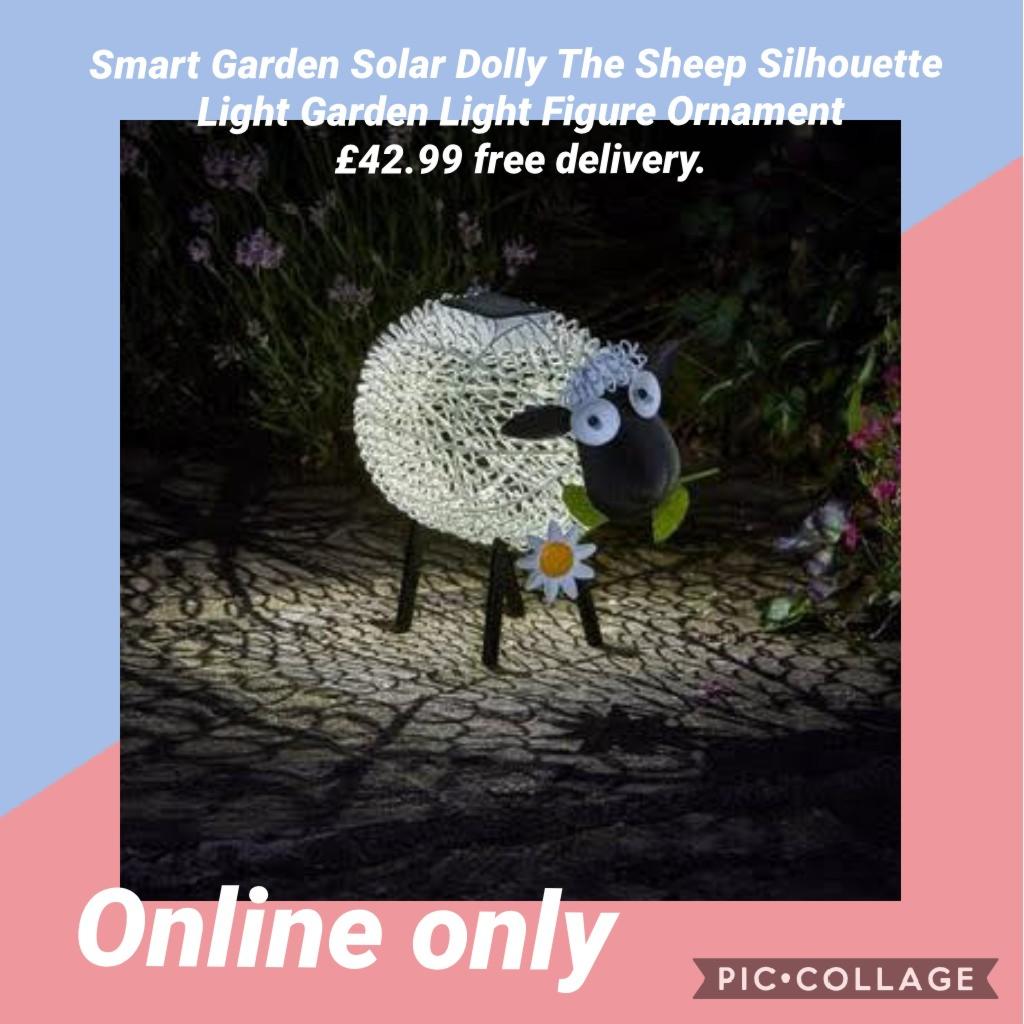 Smart Garden Solar Dolly The Sheep Silhouette Light Garden Light Figure Ornament £42.99