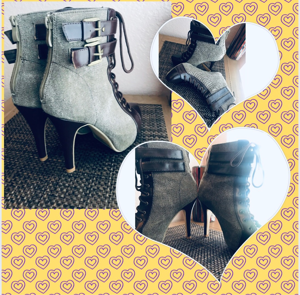 Brand-new high heeled boots