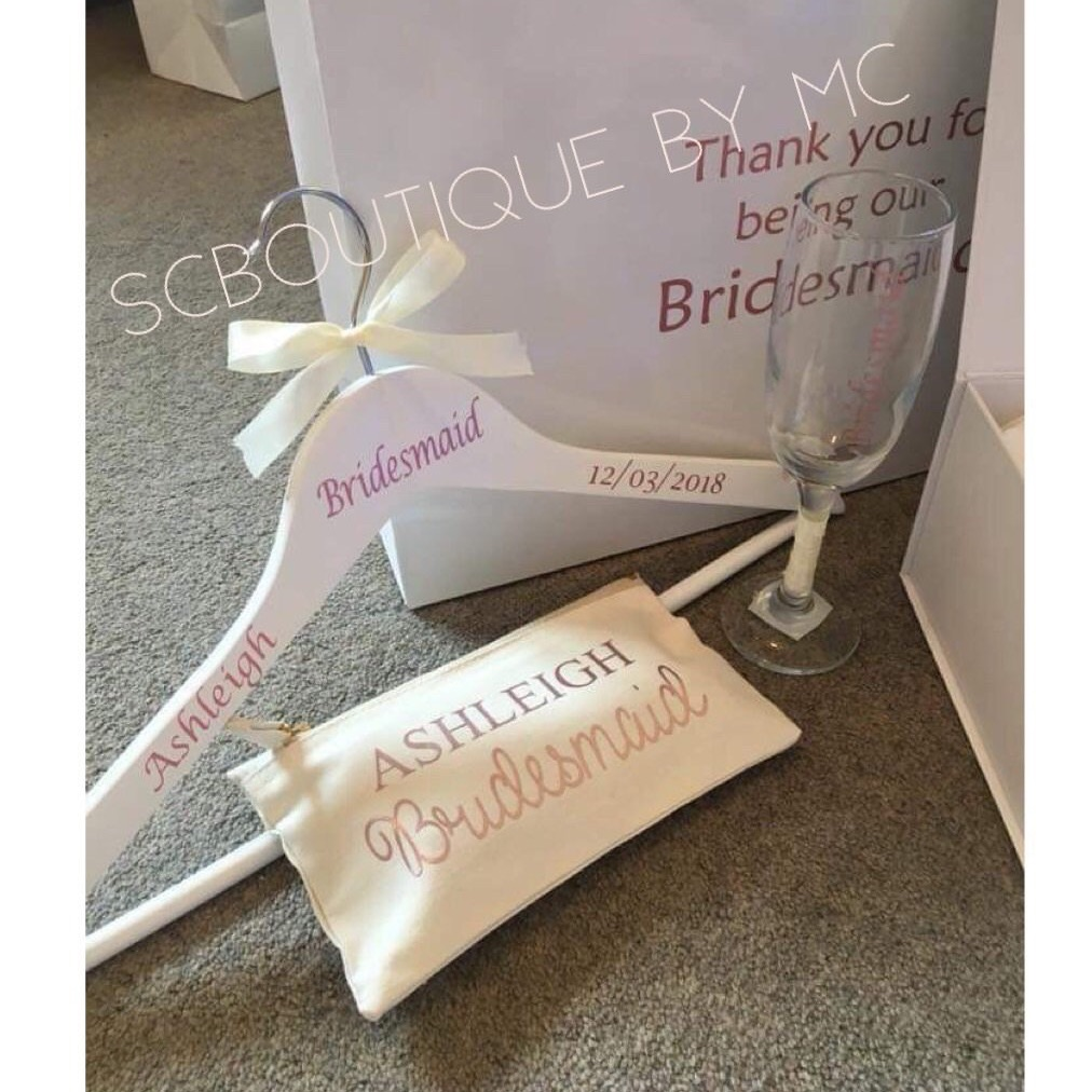 Personalised bridal gift bags