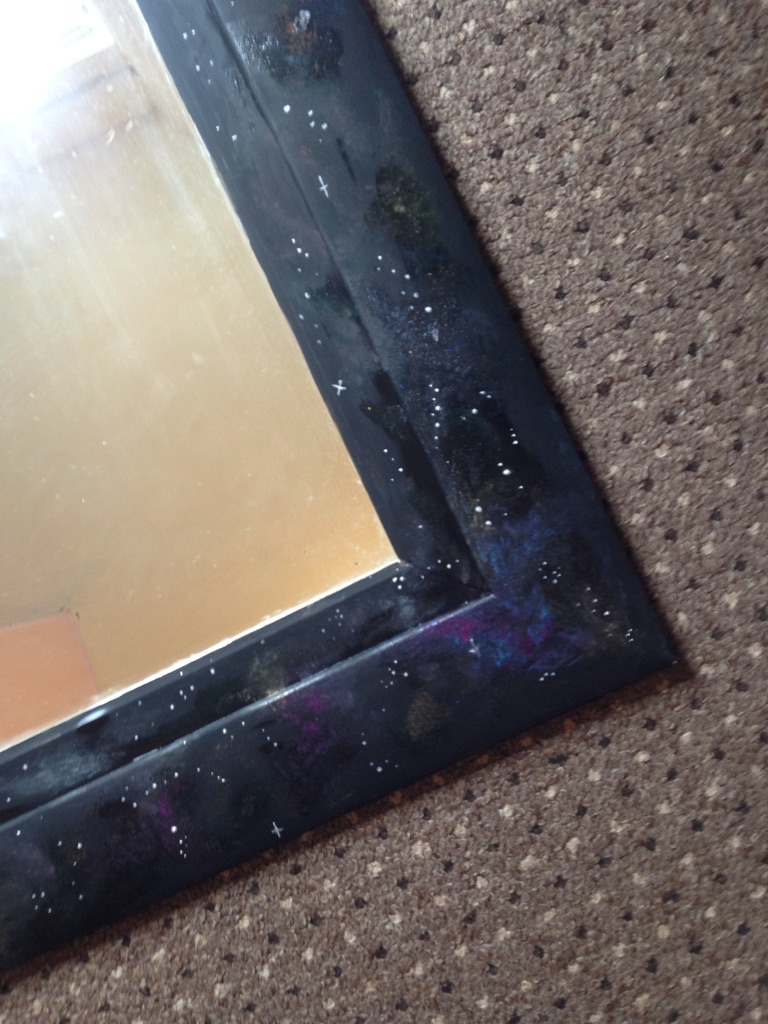 Large galaxy print mirror.