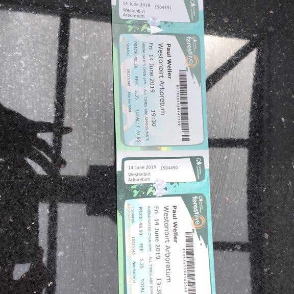 Paul Weller tickets- Westonbirt Friday 14th June